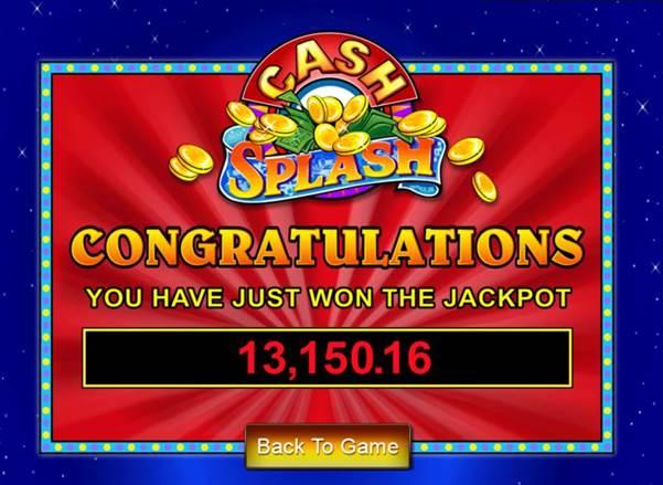 モバイル版スロット「CASH SPLASH」で約137万円のジャックポット獲得!